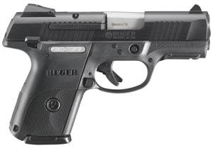 """Ruger SR9C Compact 9mm 3.5"""" 17+1 Black Syn Grip Black/Black Nitride"""