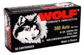 Wolf 917FMJ HANDGUN 380 Automatic Colt Pistol Full Metal Jacket 91 GR 1000Rds