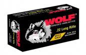 Wolf 22MTB 22 LONG RIFLE MATCH RIMFIRE 22 Long Rifle Round Nose 40 GR 5000Rds