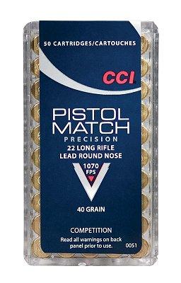 CCI 0051 SELECT 22 Long Rifle Round Nose 40 GR 50Box/100Case