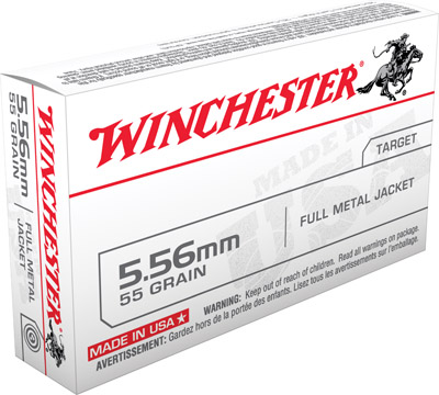 Winchester Ammo Q3131 USA 223 Remington/5.56 Nato FMJ 55 GR 20Box/50Case