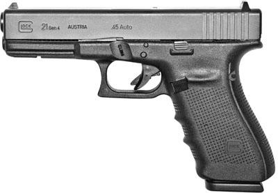 """Glock 21 Gen4 .45ACP 4.60"""" 10+1 w/FS Poly Grip Blk"""
