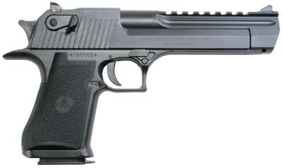"Magnum Research Desert Eagle Mk XIX 50AE IMI 6"" 7+1 Blk Syn Grip Black DE50W"